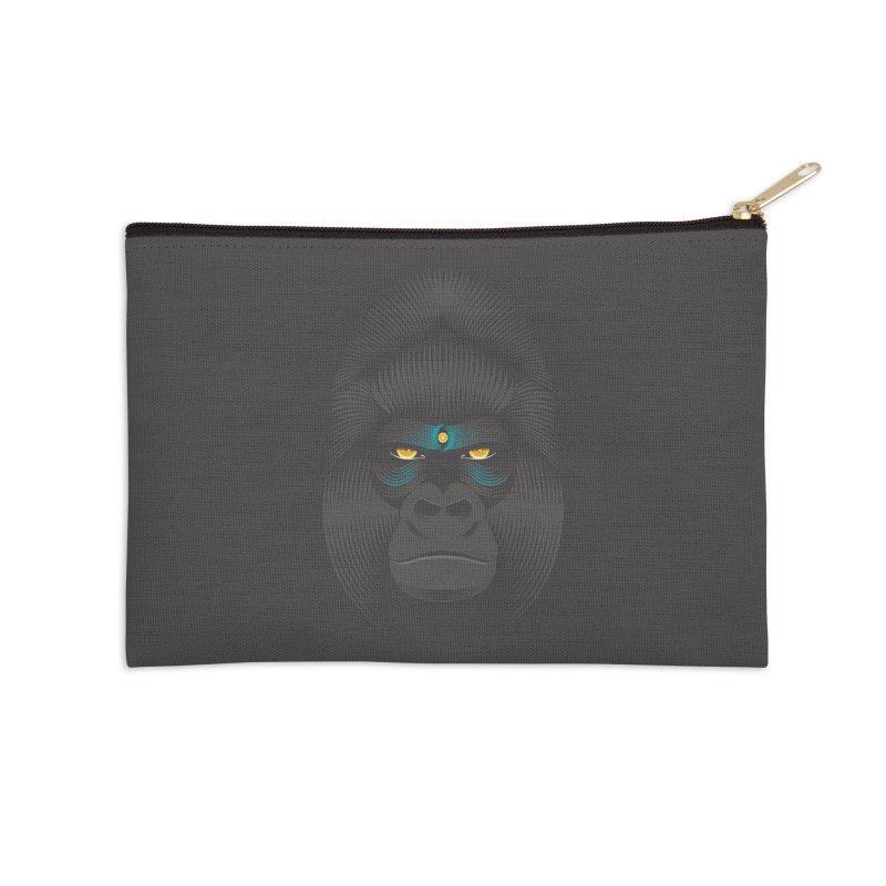 Gorilla soul - dark colours clothes Accessories Zip Pouch by PAgata's Artist Shop