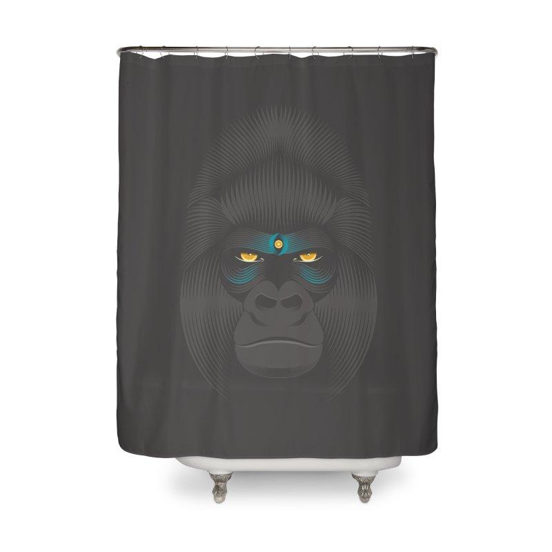 Gorilla soul - dark colours clothes Home Shower Curtain by PAgata's Artist Shop