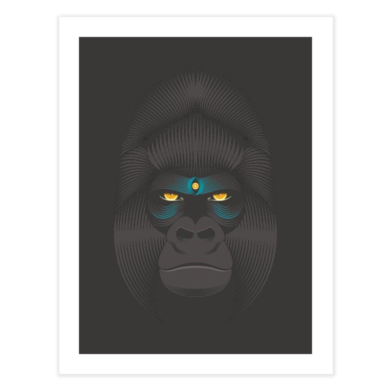 Gorilla soul - dark colours clothes Home Fine Art Print by PAgata's Artist Shop