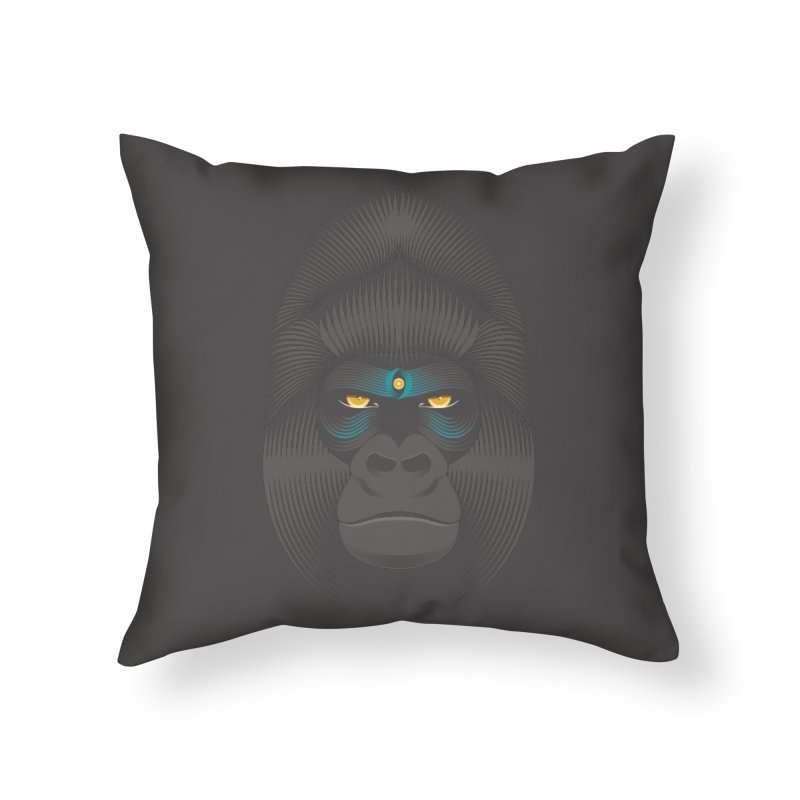 Gorilla soul - dark colours clothes Home Throw Pillow by PAgata's Artist Shop