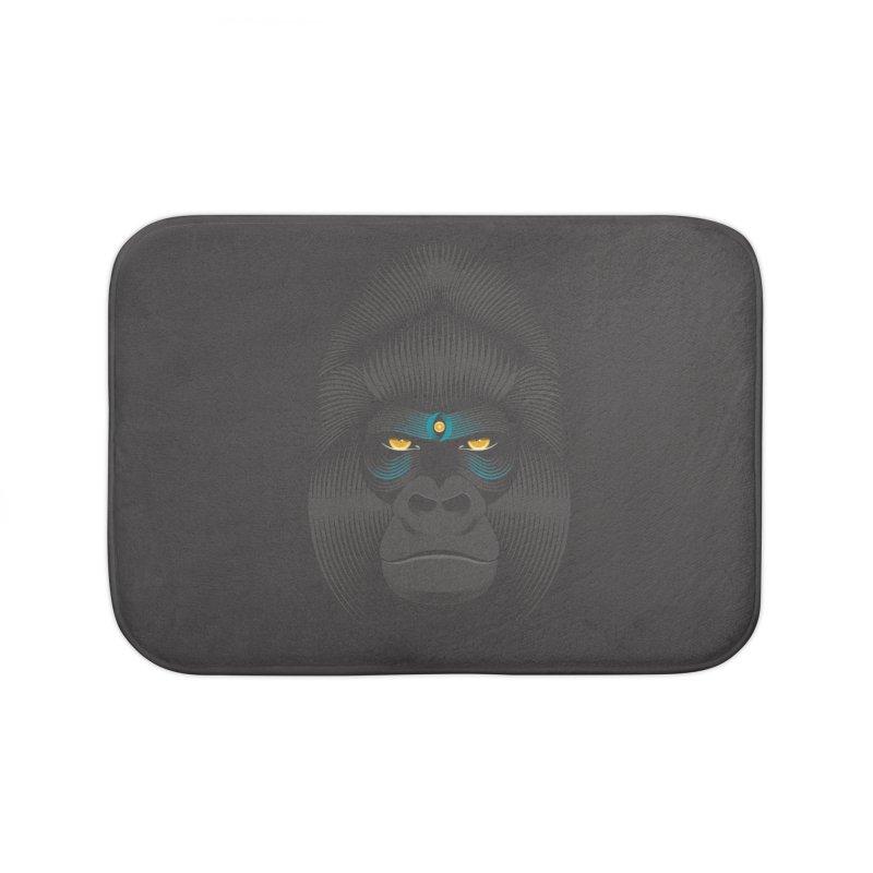 Gorilla soul - dark colours clothes Home Bath Mat by PAgata's Artist Shop