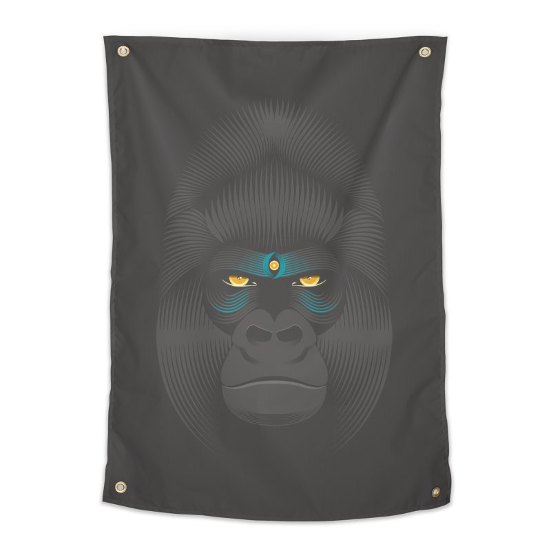Gorilla soul - dark colours clothes Home Tapestry by PAgata's Artist Shop