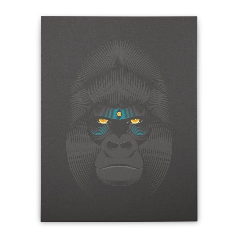 Gorilla soul - dark colours clothes Home Stretched Canvas by PAgata's Artist Shop