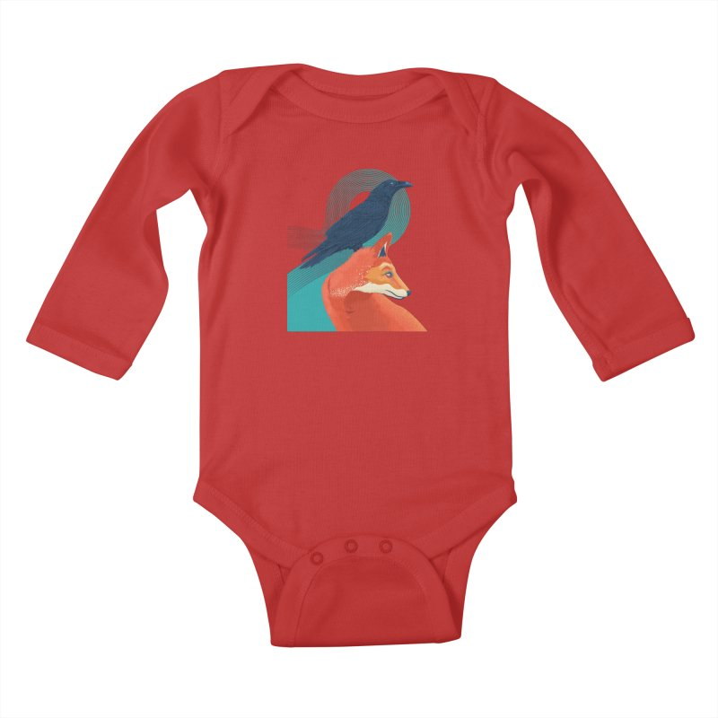 Friends or enemies? Kids Baby Longsleeve Bodysuit by PAgata's Artist Shop