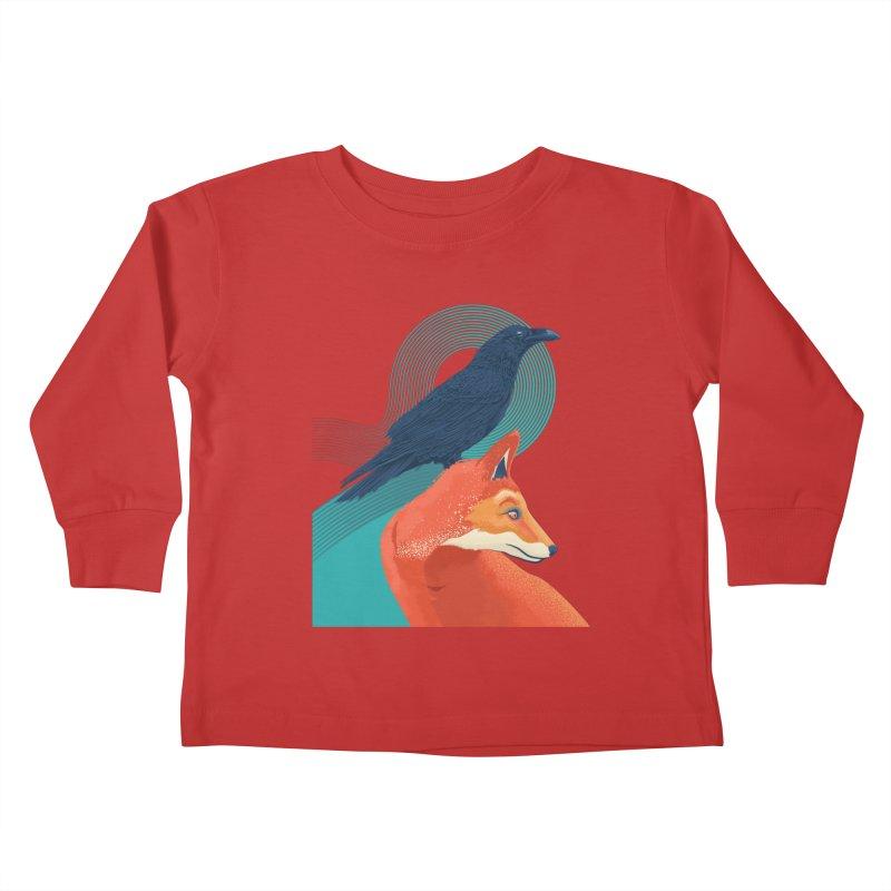 Friends or enemies? Kids Toddler Longsleeve T-Shirt by PAgata's Artist Shop