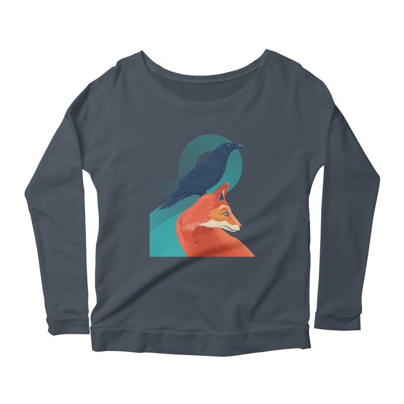 Friends or enemies? Women's Longsleeve Scoopneck  by PAgata's Artist Shop
