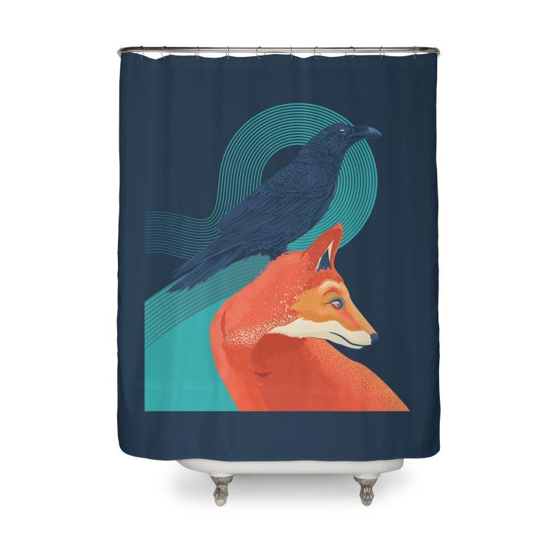 Friends or enemies? Home Shower Curtain by PAgata's Artist Shop