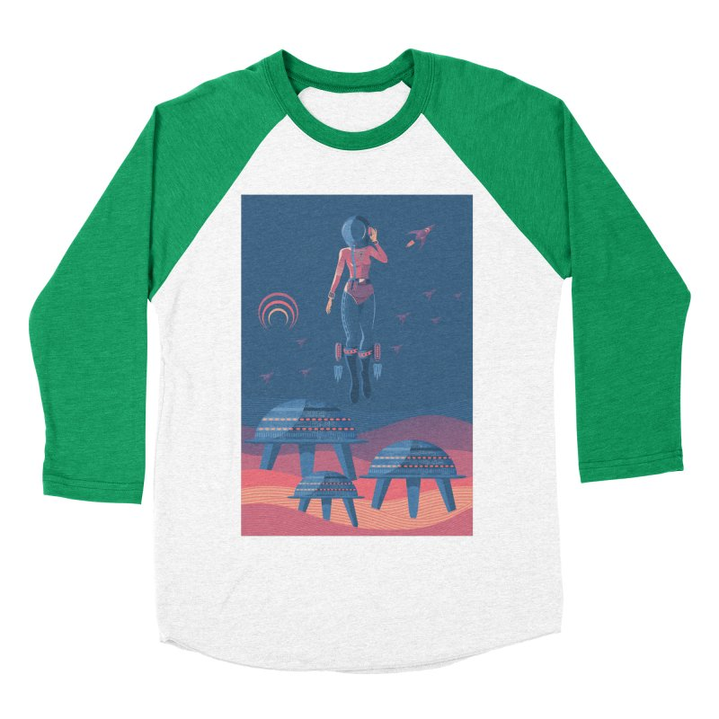 Bye! honey! Women's Baseball Triblend T-Shirt by pagata's Artist Shop