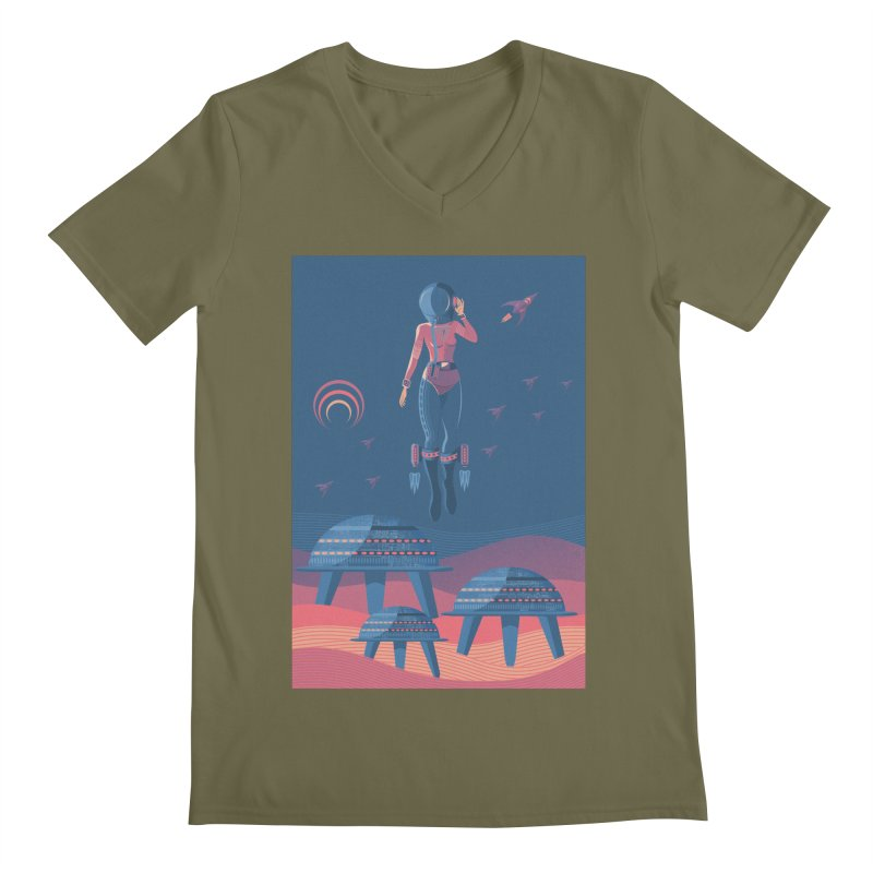 Bye! honey! Men's V-Neck by pagata's Artist Shop