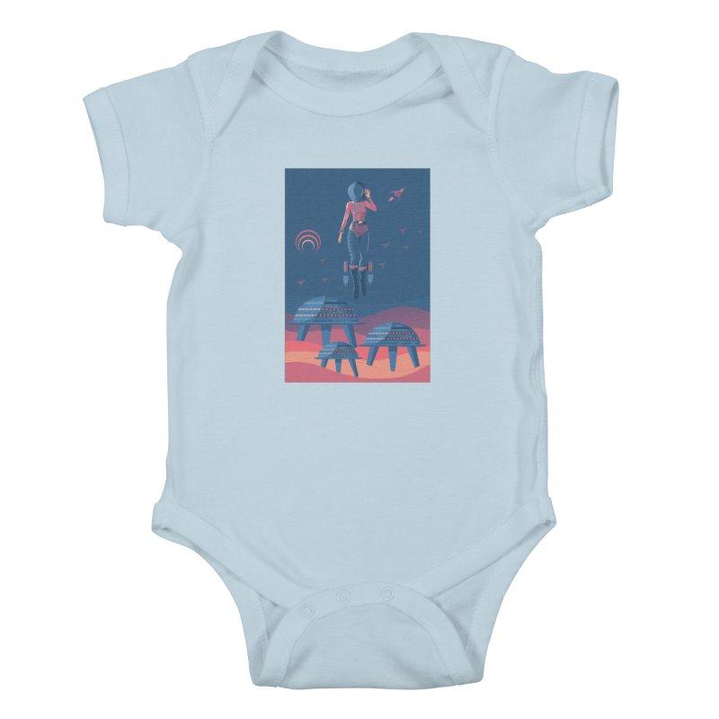Bye! honey! Kids Baby Bodysuit by pagata's Artist Shop