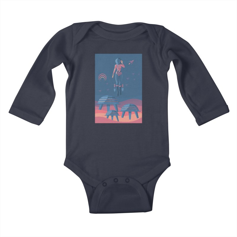 Bye! honey! Kids Baby Longsleeve Bodysuit by pagata's Artist Shop