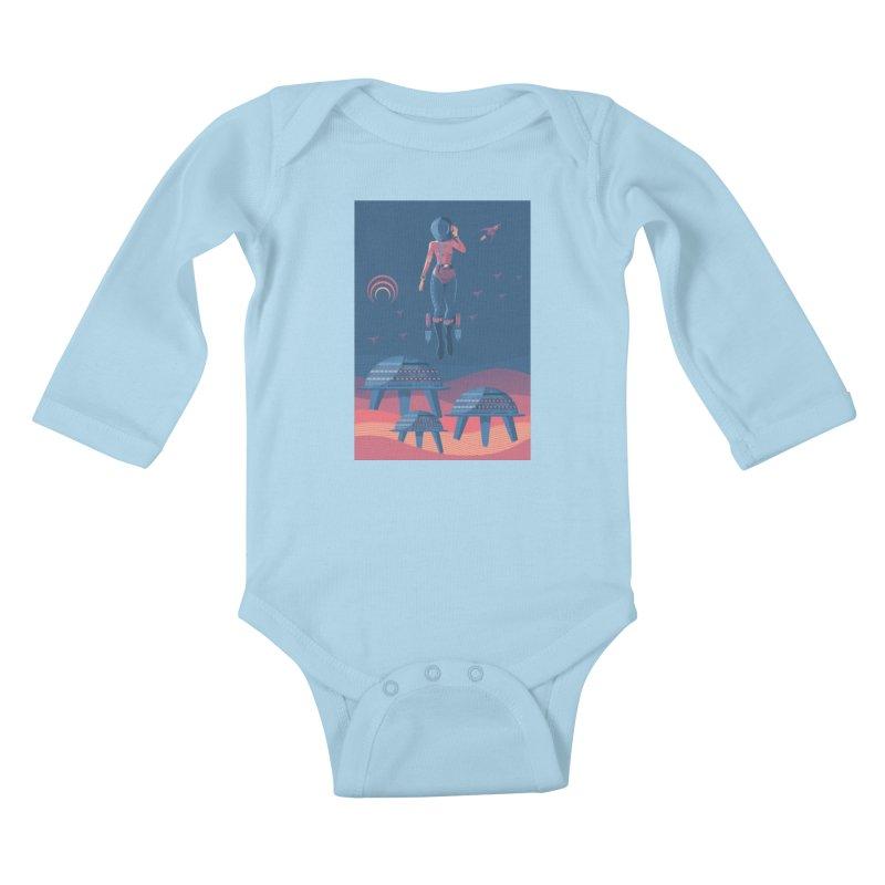 Bye! honey! Kids Baby Longsleeve Bodysuit by PAgata's Artist Shop