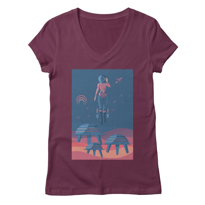 Bye! honey! Women's V-Neck by pagata's Artist Shop