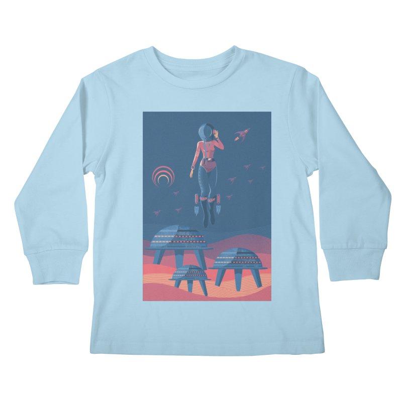 Bye! honey! Kids Longsleeve T-Shirt by pagata's Artist Shop