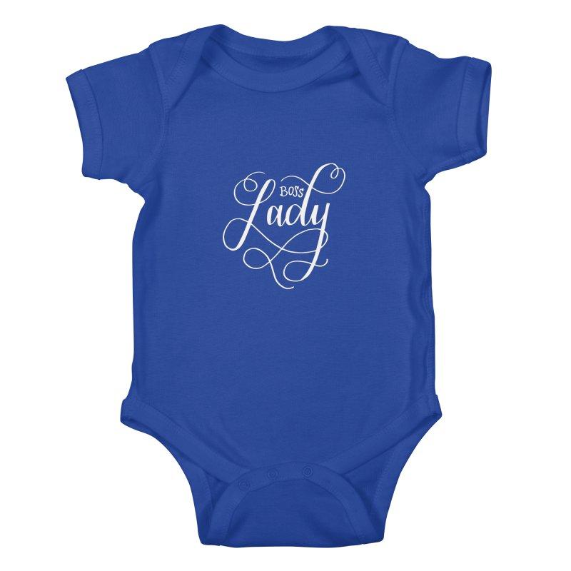 Boss Lady Kids Baby Bodysuit by paigefirnbergdesign's Artist Shop