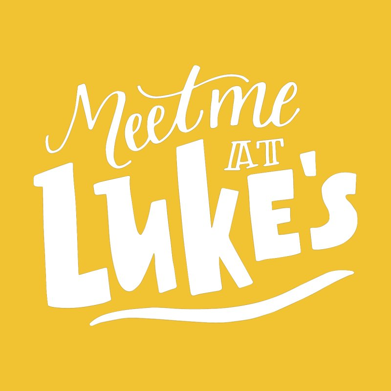 Meet Me At Lukes by paigefirnbergdesign's Artist Shop
