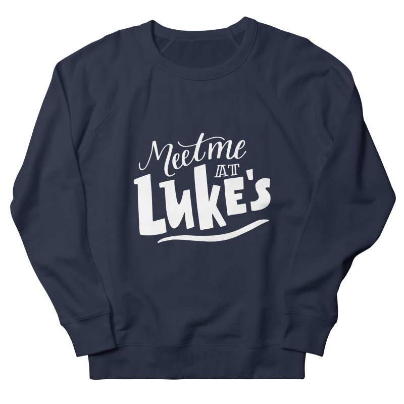 Meet Me At Lukes Men's French Terry Sweatshirt by paigefirnbergdesign's Artist Shop
