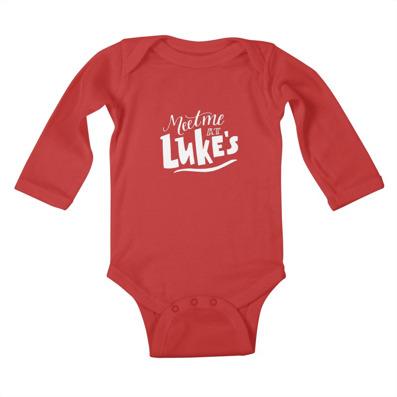 Meet Me At Lukes Kids Baby Longsleeve Bodysuit by paigefirnbergdesign's Artist Shop