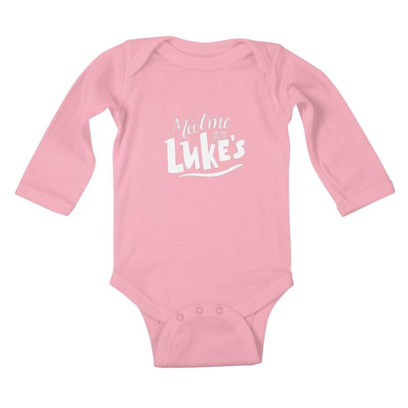 Meet Me At Lukes Kids Baby Longsleeve Bodysuit by paigefirnbergdesign's Artist Shop