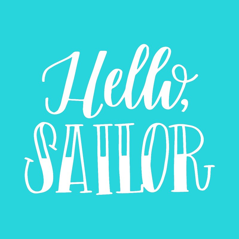 Hello Sailor by paigefirnbergdesign's Artist Shop