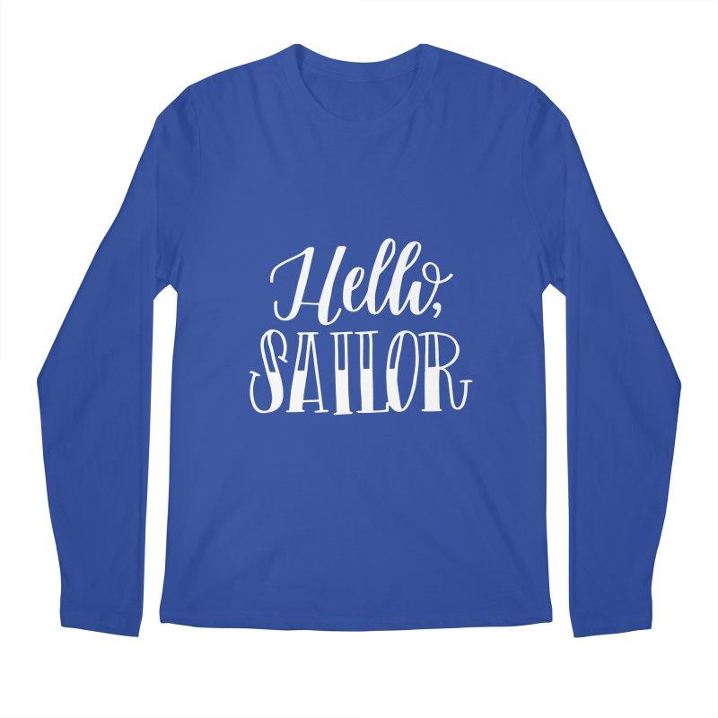 Hello Sailor Men's Regular Longsleeve T-Shirt by paigefirnbergdesign's Artist Shop