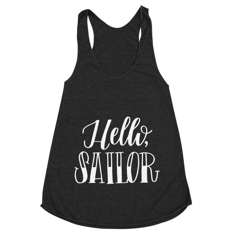 Hello Sailor Women's Racerback Triblend Tank by paigefirnbergdesign's Artist Shop