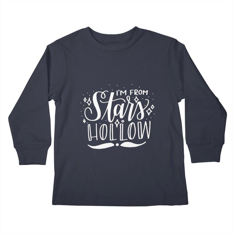 I'm From Stars Hollow Kids Longsleeve T-Shirt by paigefirnbergdesign's Artist Shop