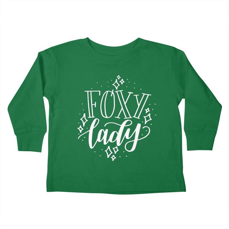 Foxy Lady Kids Toddler Longsleeve T-Shirt by paigefirnbergdesign's Artist Shop
