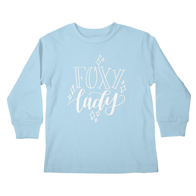 Foxy Lady Kids Longsleeve T-Shirt by paigefirnbergdesign's Artist Shop