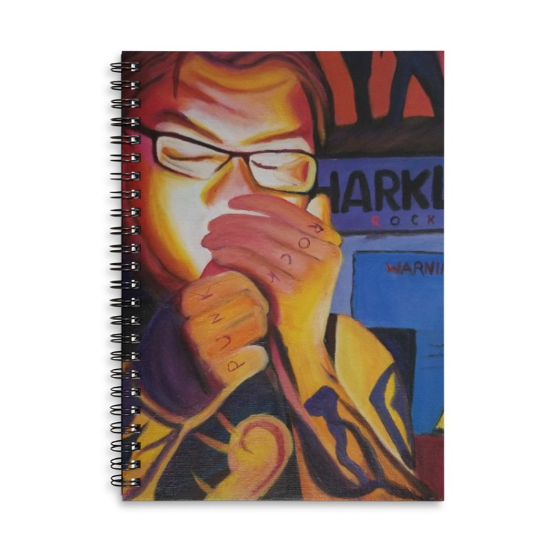 Jamie Dlux Accessories Lined Spiral Notebook by paintbytiger's Artist Shop