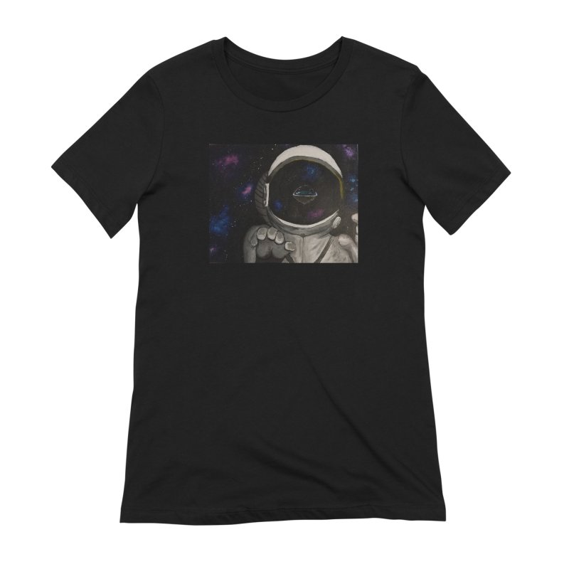 Floating Away From Flat Earth Women's Extra Soft T-Shirt by paintbytiger's Artist Shop