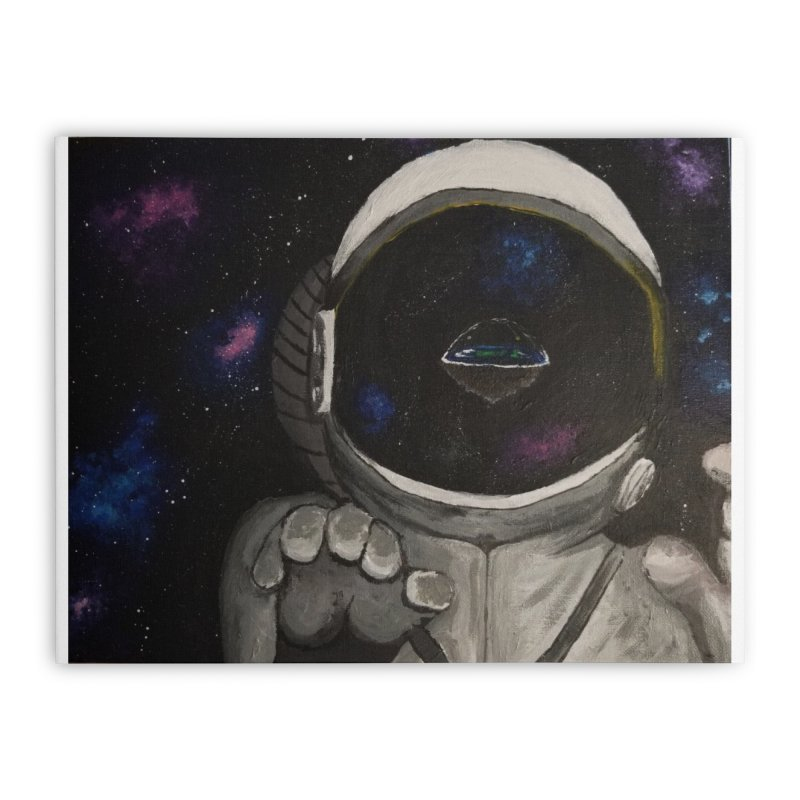 Floating Away From Flat Earth Home Stretched Canvas by paintbytiger's Artist Shop