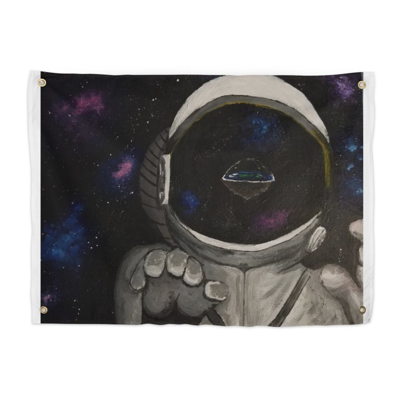 Floating Away From Flat Earth Home Tapestry by paintbytiger's Artist Shop