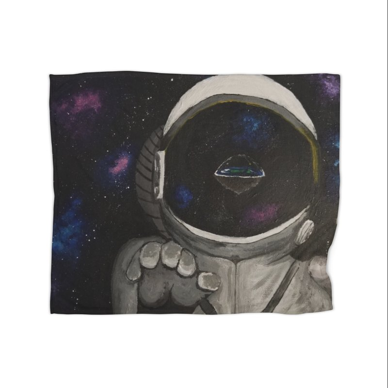 Floating Away From Flat Earth Home Fleece Blanket Blanket by paintbytiger's Artist Shop