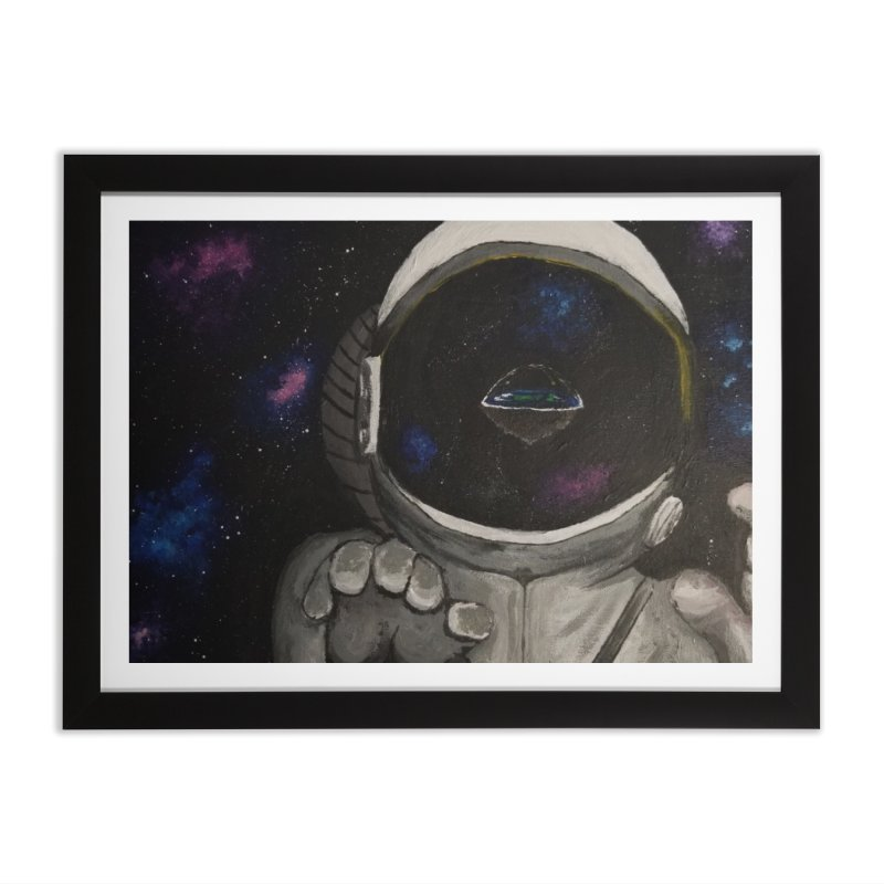 Floating Away From Flat Earth Home Framed Fine Art Print by paintbytiger's Artist Shop
