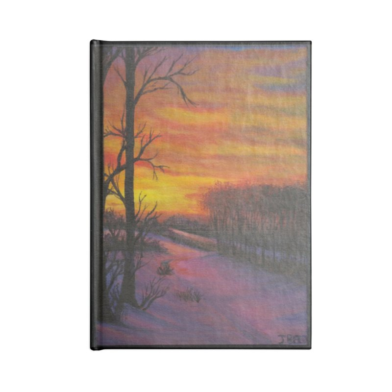 Winter Sunset Accessories Lined Journal Notebook by paintbytiger's Artist Shop