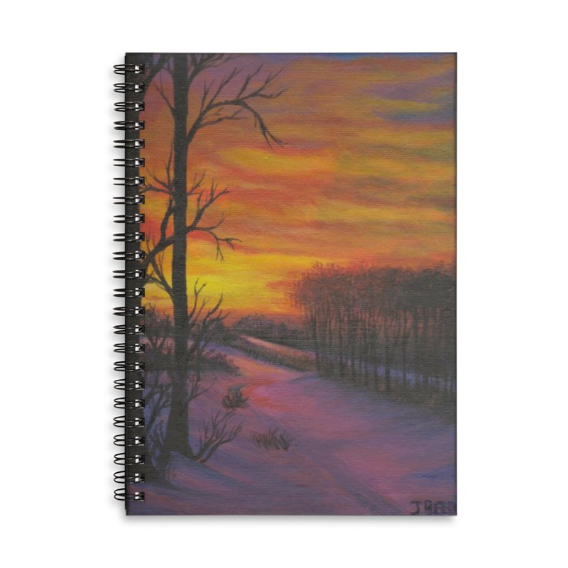 Winter Sunset Accessories Lined Spiral Notebook by paintbytiger's Artist Shop