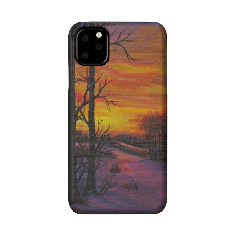 Winter Sunset Accessories Phone Case by paintbytiger's Artist Shop