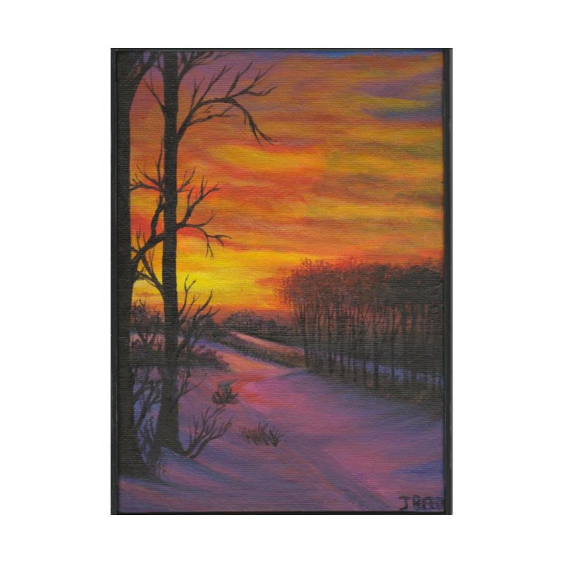 Winter Sunset Home Fine Art Print by paintbytiger's Artist Shop