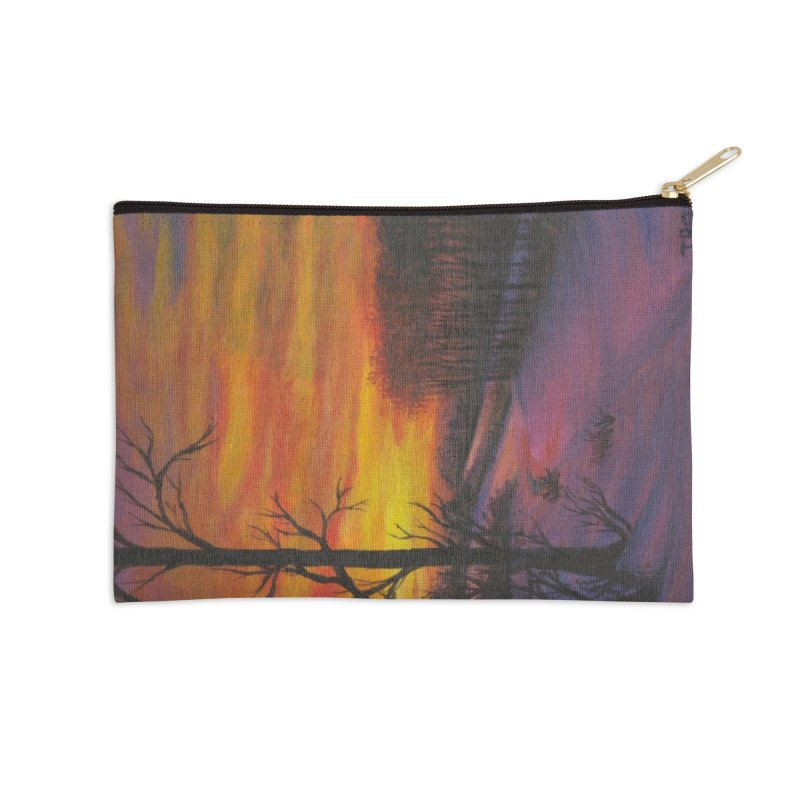 Winter Sunset Accessories Zip Pouch by paintbytiger's Artist Shop