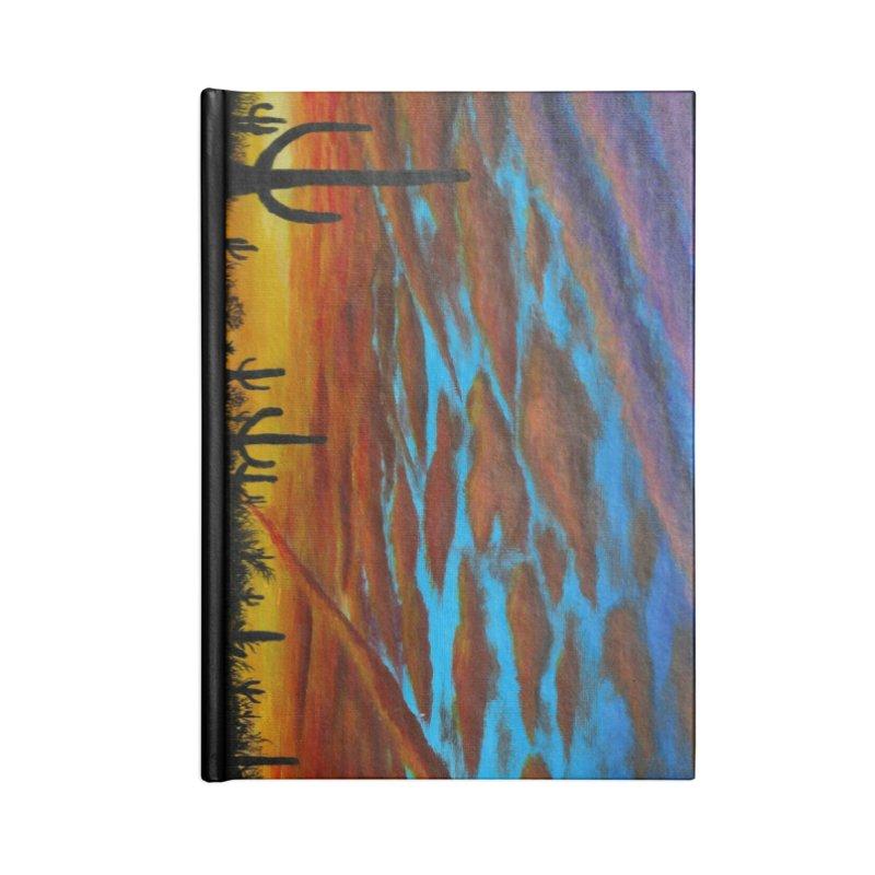 Desert Chemtrails Accessories Blank Journal Notebook by paintbytiger's Artist Shop