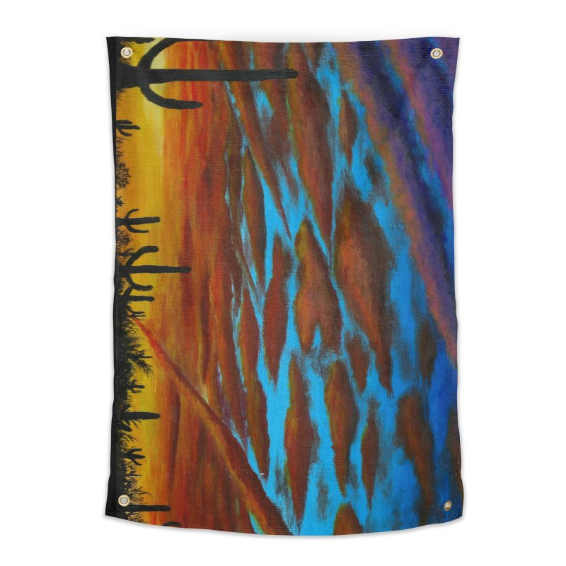 Desert Chemtrails Home Tapestry by paintbytiger's Artist Shop