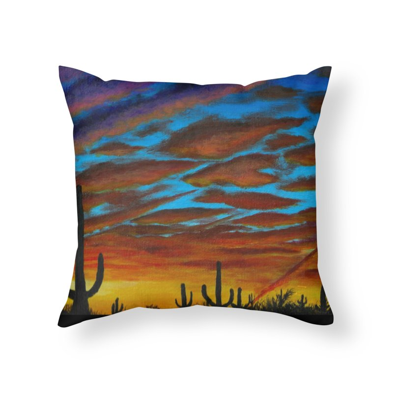 Desert Chemtrails Home Throw Pillow by paintbytiger's Artist Shop