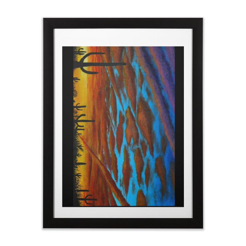 Desert Chemtrails Home Framed Fine Art Print by paintbytiger's Artist Shop