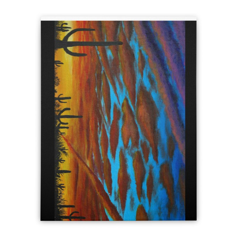 Desert Chemtrails Home Stretched Canvas by paintbytiger's Artist Shop