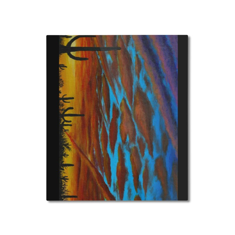 Desert Chemtrails Home Mounted Aluminum Print by paintbytiger's Artist Shop