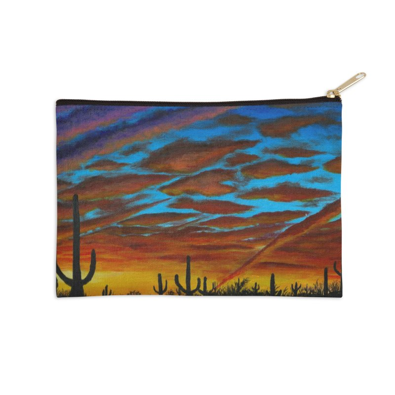 Desert Chemtrails Accessories Zip Pouch by paintbytiger's Artist Shop