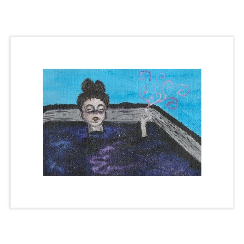 Galaxy Tub Girl Home Fine Art Print by paintbytiger's Artist Shop