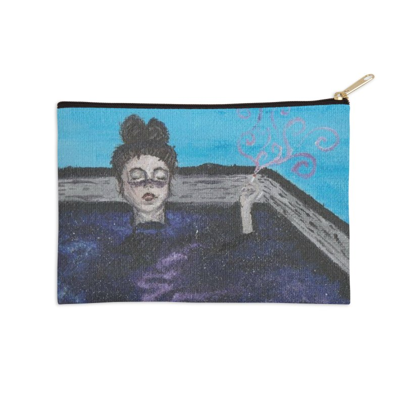 Galaxy Tub Girl Accessories Zip Pouch by paintbytiger's Artist Shop