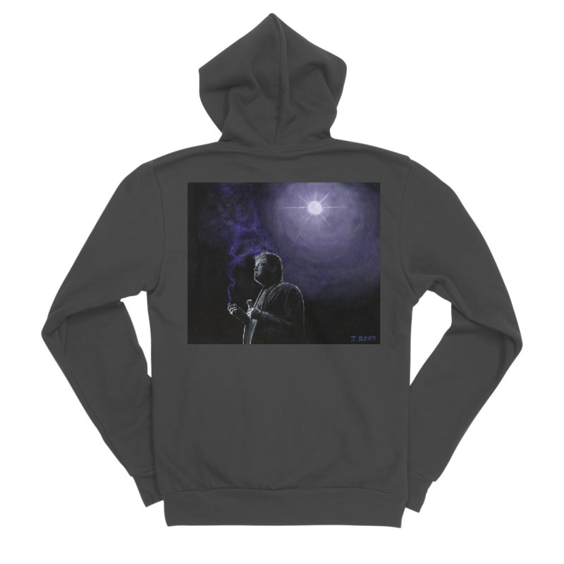 Bill Hicks Women's Sponge Fleece Zip-Up Hoody by paintbytiger's Artist Shop